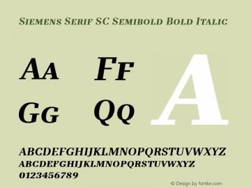 Siemens Serif SC Semibold