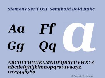Siemens Serif OSF Semibold