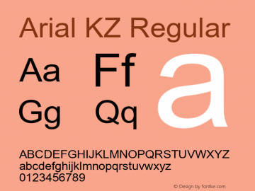 Arial KZ