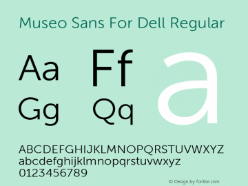 Museo Sans For Dell