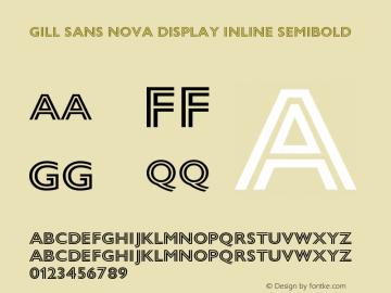 Gill Sans Nova Display