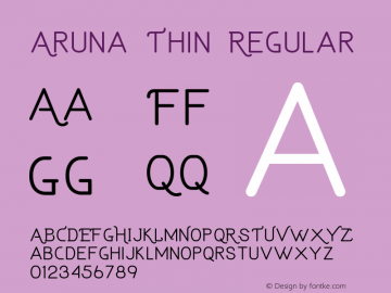 Aruna Thin