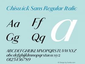 Chiswick Sans