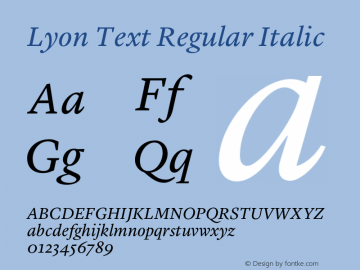 Lyon Text