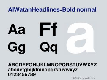 AlWatanHeadlines-Bold