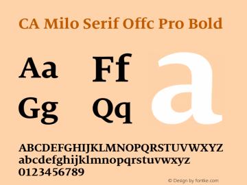 CA Milo Serif Offc Pro