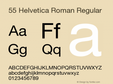 55 Helvetica Roman