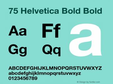 75 Helvetica Bold