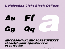 L Helvetica Light