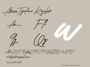 Arion Typeface