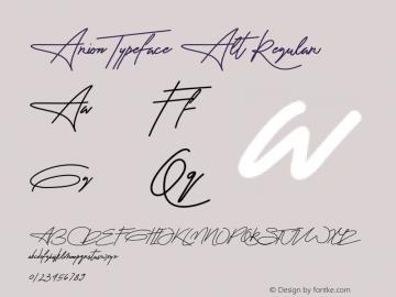 Arion Typeface Alt