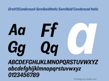 Grot12Condensed-SemiboldItalic