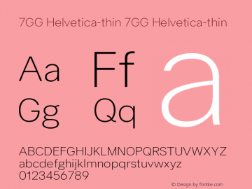 7GG Helvetica-thin