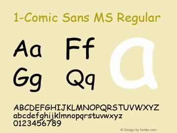 1-Comic Sans MS
