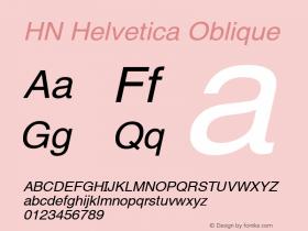 HN Helvetica