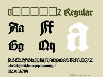 0哥特式字体2