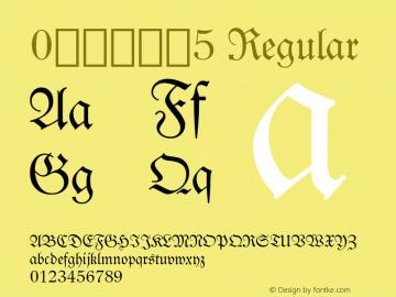 0哥特式字体5