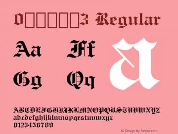 0哥特式字体3