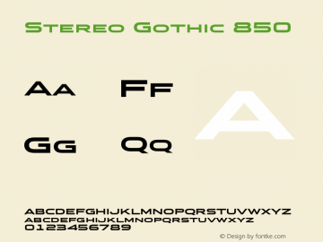 Stereo Gothic