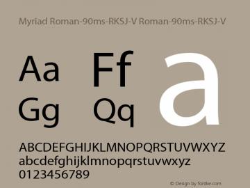 Myriad Roman-90ms-RKSJ-V
