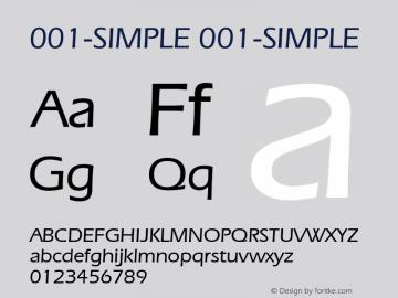 001-SIMPLE