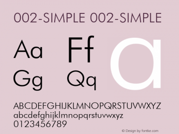 002-SIMPLE