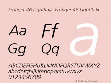 Frutiger 46 LightItalic