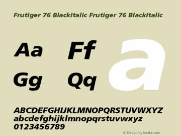 Frutiger 76 BlackItalic