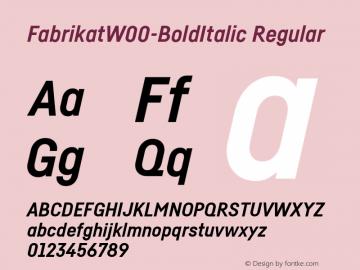 FabrikatW00-BoldItalic