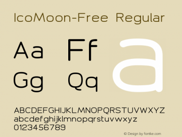 IcoMoon-Free