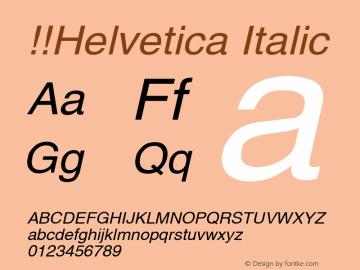 !!Helvetica