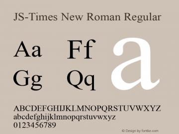 JS-Times New Roman