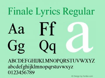 Finale Lyrics