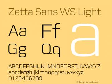 Zetta Sans WS