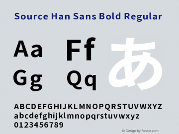 Source Han Sans Bold