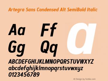 Artegra Sans Condensed Alt