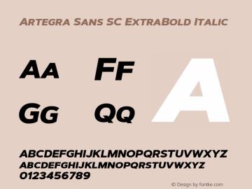 Artegra Sans SC