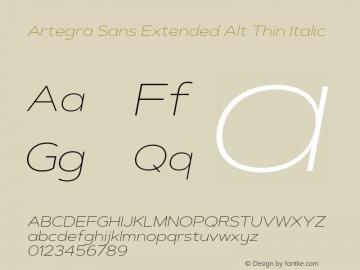 Artegra Sans Extended Alt