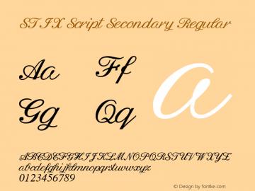 STIX Script Secondary