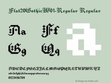 Flat20GothicW01-Regular