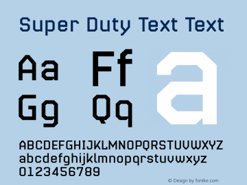 Super Duty Text
