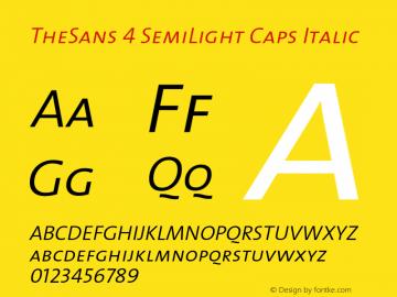 TheSans 4 SemiLight Caps