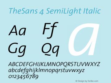 TheSans 4 SemiLight