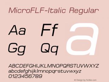 MicroFLF-Italic