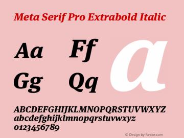 Meta Serif Pro