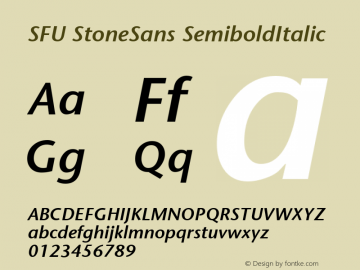 SFU StoneSans