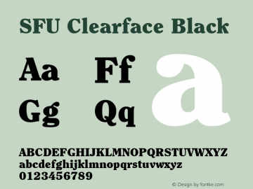 SFU Clearface