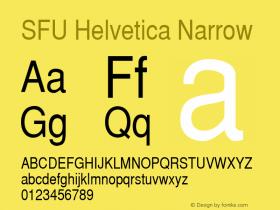 SFU Helvetica