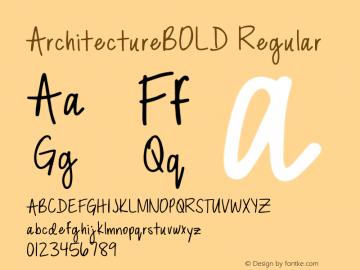 ArchitectureBOLD