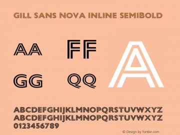 Gill Sans Nova Inline